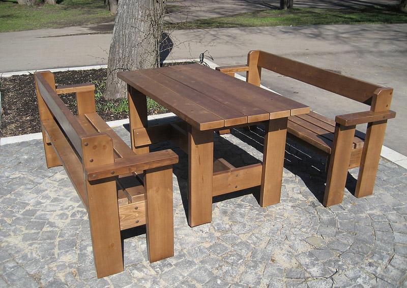 Деревянные столы и стулья для дачи из сосны своими руками фото 3