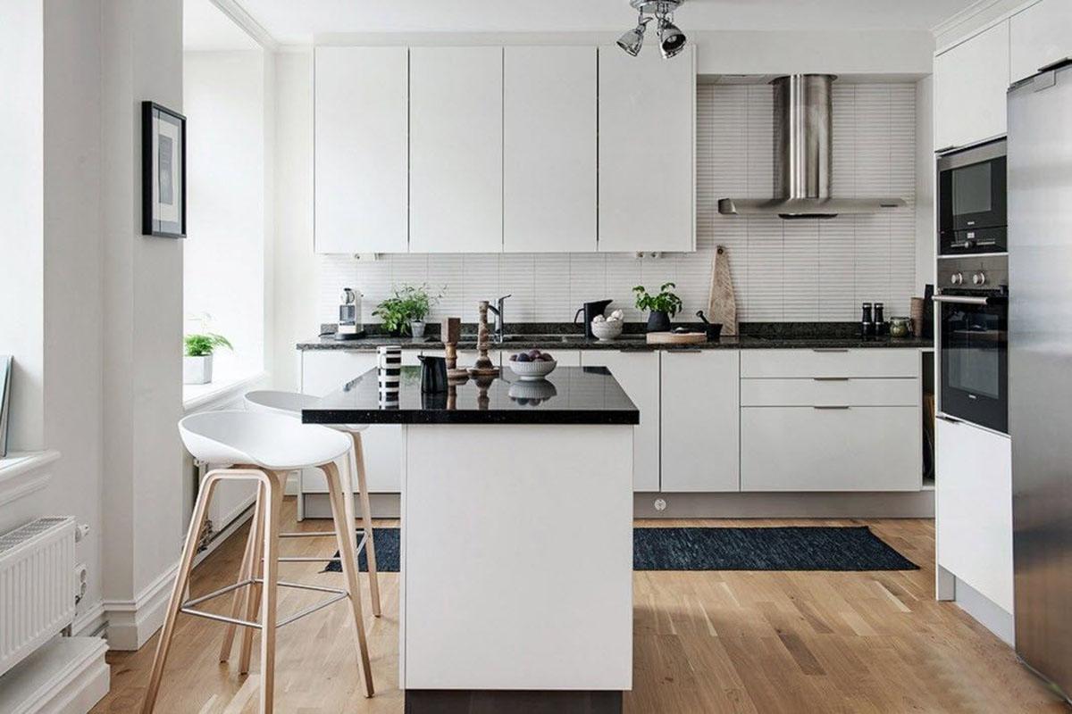 Дизайн кухни 18 кв.м 2017-2018 современные идеи